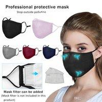 Amerykańskie zapasy bawełniane czarne usta maska do twarzy anty PM2.5 Filtr aktywowany z filtrem węglowym Maski Tkaniny Maski FY9049