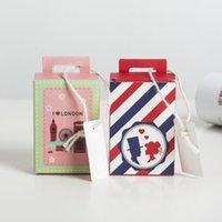 5.5 * 3.3 * 8 cm Bavul Şeker Kutusu Düğün Hediye Kutuları Çantalar Paketleme Kart ve Kurdeleli Bebek Gösterilen İyilik Parti Malzemeleri