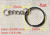 100pcs 25mm Open Jump Ring and Connector Wholesale Metal Split Keychain Ring Parts - 100 Key Chains With Fashion
