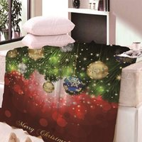 Christmas print blanket Santa Claus Warm Couch Bed Flannel Fleece Blanket Nap Blankets 150*80cm 150*120cm KKA8052