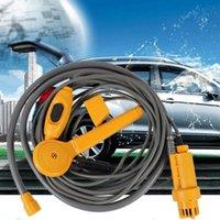 Lavadora de coches Portátil Electrónico 12V Naranja Mini Ducha inteligente para acampar Senderismo One Touch Operación Sistema incorporado