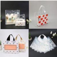 50pcs Little Daisy sacchetto di plastica rotonda Dot multipla dimensione della memoria Shopping imballaggio gioielli sacchetti sacchetto di plastica del regalo con la maniglia