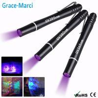 돈을 위해 클립을 판매 휴대용 미니 UV 펜 라이트 울트라 바이올렛 LED 펜 365nm의 nm 인 380 ㎚ LED Penlight의에 감지