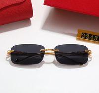النظارات الشمسية الفاخرة الأعلى Qualtiy أزياء ساحة إطارات للرجل امرأة نظارات مصمم نظارات الشمس مع مربع