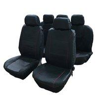 سيزونز WINSUN 9PCS عامة مقاعد 5 مقاعد سيارة يغطي مجموعة أسود رمادي