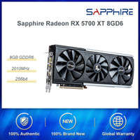 Sapphire Radeon 5700 XT RX 8GD6 256bit PUBG Computer Gaming Graphics Card Platinum Edition OC High-End PCI video DP / HDMI