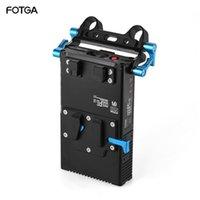 Éclairage Accessoires Studio Fotga DP500III 2 en 1 V-Mount Plaque de batterie Chargeur 15mm Pince à tige pour la prise de vue vidéo de la caméra