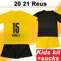 20 21 Hummel REUS KISTER KIT Fussball Trikots Neue Piszczek Gefahr Kind Home Away Football Hemd Schmelzer Wolf Kurzarm Socken Uniformen