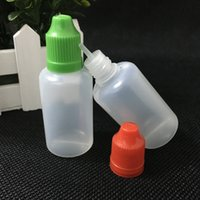 wholesale Soft Style PE Needle Bottle 30ml Dropper Bottles Child Proof Caps 30ml Empty plastic Bottle with long thin tip