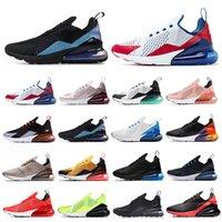 Nike Air Max 270 270s zapatillas deportivas blancas negras hombres Chaussures Regency púrpura voltios ROSE APENAS hombre entrenadores del deporte al aire zapatillas de deporte