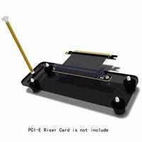DIY بطاقات الرسومات قوس، PCIE الخارجية المدمج في مسنده تركيب حامل لATX حالة PCI-E 1X 4X 16X الناهض النسخة كابل R L