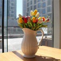 Латекс Тюльпаны Искусственный PU цветок букет Real сенсорными цветы для украшения дома свадебные Декоративные цветы 12 цветов Вариант
