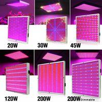 20W / 30W / 45W / 120W / 200W LED تنمو ضوء كامل الطيف مصباح مصنع لوحة الإضاءة AC85 ~ 265V للنباتات المائية الاحتباس الحراري الزهور