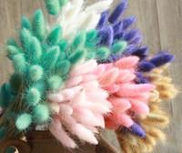50pcs / lot natural degradado por las flores amarillas Ramo de novia Pascua decoraciones caseras conejo cola Hierba decoraciones de Pascua