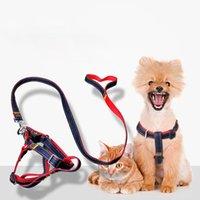Pet Dog Harnesses LAISSE Corde Durable Cowboy Traction Leash Fort Dog Walk Out Harnais Collier pour chiens Petit Moyen