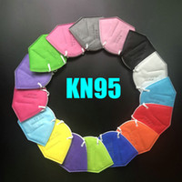 KN95 masque 12 couleur usine 95% filtre FFP2 FFP3 FFP3 Masque de visage Masque de visage activé de luxe de carbone réutilisable respirable 6 couches protectrice de protection