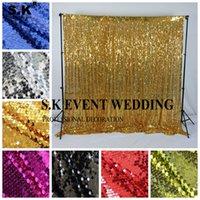 Daha Güzel Payet Backdrop Perde Duvar Glitter Sahne Arkaplan Photo Booth Bizim Kapı Düğün Olay Ziyafet Dekorasyon
