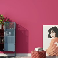 Modern Nordic Plain Fest Farbe Tapete Non Woven Blau Grau Rose Red Wall Papierrolle für Wohnzimmer Schlafzimmer Walls