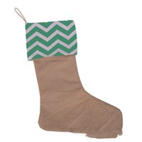 Полосатый Рождественский подарок чулок 9 Стили 12 * 18INCH Холст мешки подарка Xmas Stocking Burlap Декоративные носки OOA8298