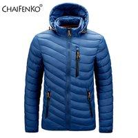 CHAIFENKO Marca caliente del invierno de la chaqueta impermeable de los hombres de Nueva otoño gruesa capucha Parkas Mens de la manera ocasionales adelgazan capa de la chaqueta de los hombres 200922