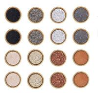 جديد druzy بسيط حجر مجوهرات مسمار الأقراط للجولة السيدات الراتنج أقراط الذهب أزياء النساء في السائبة Epacket الحرة