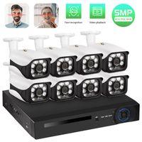 Sistema de Vigilância Fuers Sistema CCTV 8CH NVR 5.0MP POE câmera H.265 Segurança Camera Waterproof Alarm Video Recorder GRAVADO DA CARA