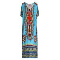 Freie Größen Urlaub Langes Kleid Frauen Sommer V-Ausschnitt Strand Kleid Plus Größe Baumwolle Beach Cover Up Robe Knöchellänge 7 Farben