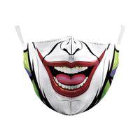 5pcs 재미 할로윈 얼굴 마스크 2 레이어가있는 가장 먼지 스포츠 스포츠 빨강 보호 재사용 가능한 재사용 가능한 재사용 가능한 재사용