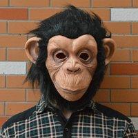 Oreja de diamante grande: precioso para toda la cara del mono de látex máscara favorable al medio ambiente para el partido de Cosplay de Halloween