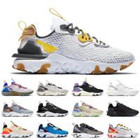 2020 الاصدار الجديد ملحمة تتفاعل رؤية النساء الرجال الاحذية الأبيض الحديد رمادي أصفر الأعلى فاشيوين المدربين قزحي الألوان الأسود نيك أحذية رياضية