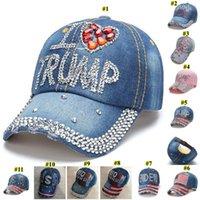 11 colores Trump 2020 Joe Biden 2020 gorra de béisbol EE.UU. sombrero vaquero campaña electoral de Cap Diamond Snapback ajustable unisex sombrero GH589
