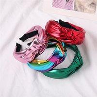 Bandes à cheveux nouées de bande de tête vintage pour femmes Mode Insérer des filles coréennes accessoires de cheveux Fairy Simple Cuir Bandeau de cheveux 9 couleurs