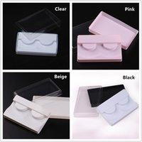 3 في 1 شفافة الأبيض الوردي الرموش التغليف البلاستيكية صندوق كاذبة الرموش علبة التخزين غطاء تحديد حالة شفاف غطاء مسح صينية سفينة حر