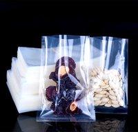 100 ADET Açık Üst Plastik Gıda Vakum Isı Mühür Paketleme Çantası Düz Temizle Et Snack Fasulye Depolama Ambalaj Torbalar