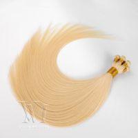 VMAe 13A 100G Handtied Hair Double Drawn Silk Straight Natural Virgin Remy 100% Obehandlad Handbundet Hand Bundet väft Människans hårförlängning