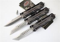 6 Art Microtech COMBAT Troodon UTX85 UTX70 S / E im Freien EDC Fischen Wandern taktische Kampf-Jagd-Gerade aus Messer Jagdmesser
