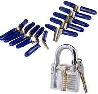 2020 Più Nuovo 10 PZ PADLOCK SHIM Picks Set Lock Pick Accessori Set Strumenti Blocco Home Strumenti Articoli Blocksmith Strumenti
