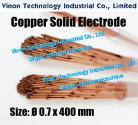 0.7x400MM cuivre massif électrode (200pcs / lot), Rod cuivre massif EDM électrode Dia 0,7 mm, longueur 400 mm utilisé pour Électroérosion Usinage
