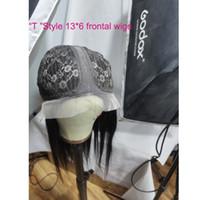 Brazilian T نمط 13 * 6 الدانتيل الحجم الباروكات 10-26 بوصة مستقيم الجسم موجة عميق مجعد فضفاض عميق غريب مجعد t-sced 13x6 الباروكة