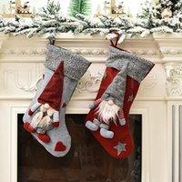 Medias de la Navidad de la muñeca de Santa Claus de Navidad calcetines bolsa de regalo partido de los ornamentos del árbol de navidad lindo de la Navidad Decoración RRA3458