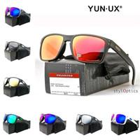 جديد الرجال مخصص الأزياء النظارات الشمسية الدخان ماتي الإطار الأسود الاستقطاب عدسة YO9102 نظارات عالية الجودة في الهواء الطلق شحن مجاني بالجملة