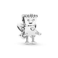 꽃의 요정 펜던트 매력 여성 선물 원래 판도라 팔찌 3mm 뱀 체인 팔찌 펜던트 보석 적응 귀여운 구슬을