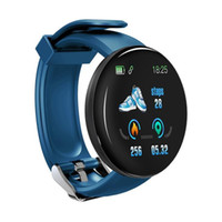 D18 بلوتوث الذكية ووتش الرجال نساء ضغط الدم الذكي الرياضة تعقب عداد الخطى لالروبوت smartband