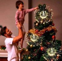 Оптовая 200 светодиодов Открытый Starburst Светодиодные фейерверки огни Водонепроницаемый Copper Строка Фея Свет Для дома и сада стрит Рождественские украшения