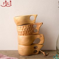 Mugs Chinese Portable Wood Coffee Mug Rubber Wooden Milk Cups Water Drinking Drinkware Handmade Juice Teacup Gift