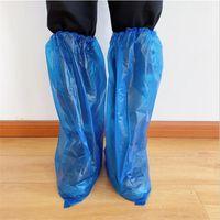 Ayakkabı Yağmur Gün Halı Zemin Koruyucu Mavi Temizleme Ayakkabı Kapak overshoes için plastik Uzun Su geçirmez tek kullanımlık Kapaklar