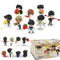 8pcs / set 4 cm - 6,5 centimetri Anime Detective Conan Angelo Kudou Shinichi Kaitou Kiddo PVC figura Doll Toy Mini Dolls