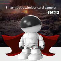Neue Überwachungskamera menschlicher Körper automatische Nachführung intelligenter Roboter drahtlose WiFi Haus Remote-Netzwerk-Monitor 1080P weiß