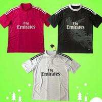 2014 2015 Real Madrid camisa retro de futebol 14 15 branco casa do vintage terceiro camisa de futebol preto afastado vermelho Dragão chinês Ronaldo Benzema Bale
