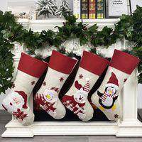 عيد الميلاد تخزين غير المنسوجة النسيج القديم رجل ثلج الأيائل البطريق الإبداعية سانتا هدية حقيبة الحلوى dcoration penda